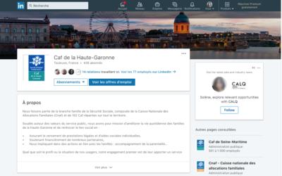 Retrouvez la Caf de la Haute-Garonne sur Linkedin !